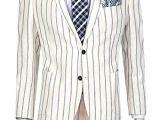 Beyaz Çizgili Ceket