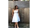 Sırt bağlama detaylı elbise toptan
